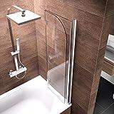 Schulte Duschwand Breathe, 120x140 cm, 2-teilig faltbar, Sicherheitsglas klar 6 mm, Profilfarbe chrom-optik, Duschabtrennung für Badewanne Test