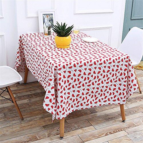 DIKHBJWQ Wassermelone Korn Tischdecke Baumwolle Leinen rustikale Rechteck waschbar Tischdecke/Wassermelone Cartoon Muster Student (140 * 180cm) - Gamer Licht T-shirt