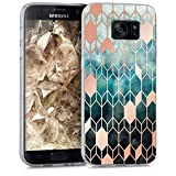kwmobile Samsung Galaxy S7 Hülle - Handyhülle für Samsung Galaxy S7 - Handy Case in Blau Rosegold