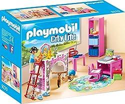City Life, Hochbett ist wie ein Prinzessinnenschloss gestaltet. Mit Schreibtisch zur Erledigung der Hausaufgaben, Regal zum Verstauen der Spielsachen und vielen Zubehörteilen, Mindestalter: 4 Jahr(e), Empfohlenes Geschlecht: Mädchen, Produktfarbe: Pi...