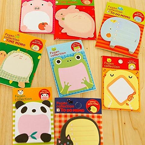 1pcs Mini Animal adhesivo de Memo Bookmark índice Tab Pads banderas notas adhesivas mensaje Nota Scratch