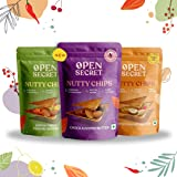 Open Secret Multi flavor Nutty Chips Combo - 12 On-the-go packs | India's first sandwich chips with nut (dryfruit) butter fil