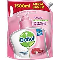 Dettol Skincare Germ Protection Handwash Liquid Soap Refill, 1500ml
