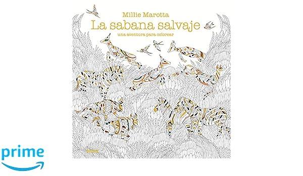 Amazon.fr - Sabana salvaje: una aventura para colorear - Millie ...