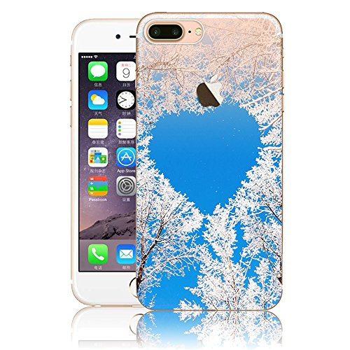 iPhone 7 Plus Hülle, Vandot Malerei Painting Case Cover für iPhone 7 Plus Natur Design Landscape Landschaft Schutzhülle aus TPU Silikon Muster Pattern Abdeckung Telefonkasten Ultra Dünn Leicht Soft Ha Color 11