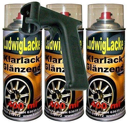 Klarlack glänzend Spraydose 3 x 400ml plus Haltegriff