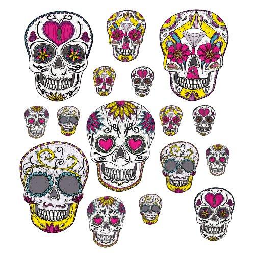 Euro grafica BS-DT7062 Adesivi Viaggi, adesivi Valigia, Funky Skulls, 25