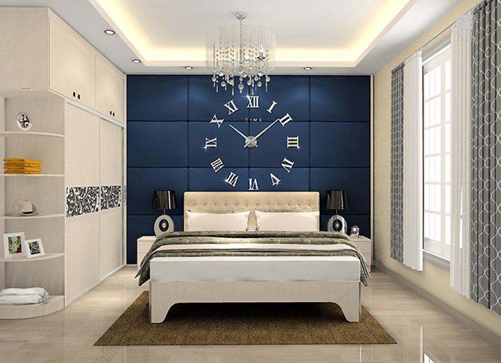fas1 moderne diy grand pendule murale chiffres romains big montre stickers 3d horloge montre. Black Bedroom Furniture Sets. Home Design Ideas
