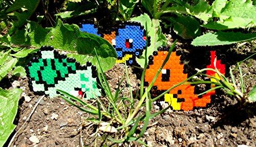 Llavero Starter Proveniente de bulbazaur squirtle charmander Pikachu Sacha- Nintendo • Hama Beads • Pixel/art
