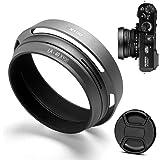Haoge LH-X53B 3in1 Metall Gegenlichtblende mit 49mm Adapterring mit Objektivdeckel f/ür Fujifilm Fuji FinePix X70 X100 X100S X100T X100F X100V Kamera Objektiv ersetzt LH-X100 AR-X100 Schwarz