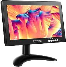 Eyoyo 8 inch HDMI IPS Monitor, 1280x720 High-Resolution Display 16:9 Small Screen Support HDMI/VGA/AV/BNC/Speak Input for PC TV CCTV Security System Raspberry pi w/Built in Spesker