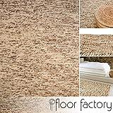 Alfombra moderna Dots beige 160x230 cm - tejido a mano de 100% lana