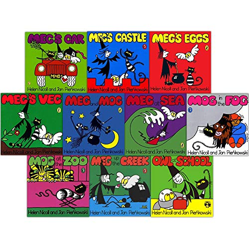 Meg and Mog 10 book collection in Zip-lock bag RRP £59.90