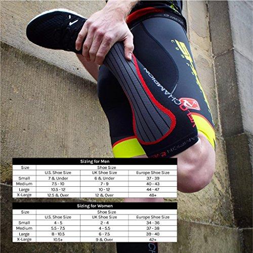 VeloChampion Compression Sports Socks (Black – Small) For Running, Cycling, Triathlon