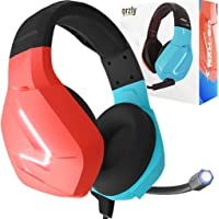 Orzly Gaming headset with Mic compatible with Nintendo Switch Joycon colour match & added features Gaming consoles PC…