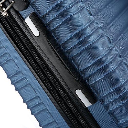 Reisekoffer 2088 Hartschalekoffer Gepäck Koffer Trolley Bordcase Handgepäck M in 14 Farben (Blau) - 3