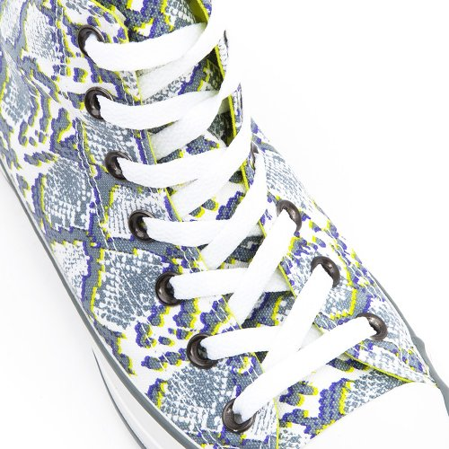 Converse, Chuck Taylor All Star Snake Print, Sneaker,Unisex - adulto White/Grey Snake