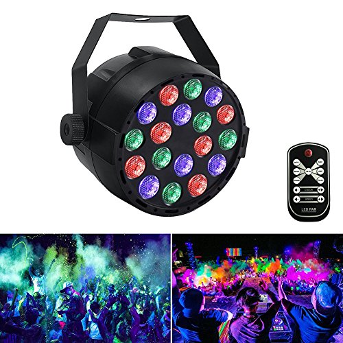 DJ Par Lichter mit RGB 18Leds 36W 18led Par Lichter Bühnenlicht Gorgeous Effect von DMX Controlled für Up Stage Lighting