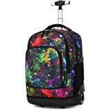 Dreneco School Bags for Boys Grils with Wheels, Rucksack for School Childrens, Luggage on Wheels Kids Trolley Backpack Rollin