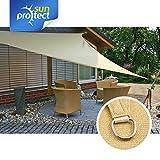 sunprotect 83494 Professional Sonnensegel, 2,5 x 2,5 x 2,5 m, Dreieck, Wind- & wasserdurchlässig, Beige