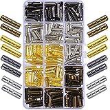 Lot de 200embouts à 3 trous en métal pour lacets Parfait pour baskets en toile Pour réparer soi-même ses lacets Coloris assortis 20mm de longueur