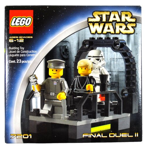Lego-sets 2002 (Lego Year 2002 Star Wars Series Movie Scene Set # 7201 - FINAL DUEL II with Walkway on the Second Death Star Plus Luke Skywalker as Jedi Knight, Imperial Officer and Stormtrooper Minifigures (Total Pieces: 23) by LEGO)