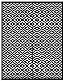 Green Decore 240 x 300 cm Wendbarer Öko-Teppich aus recyceltem Kunststoff (Plastik) für Innen und Außen / Federleicht - Schwarz / Weiß
