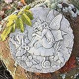 Antikas - Mauerdekoration Feen und Elfen Relief - Elfe als Schmetterling Dekoration Elfe