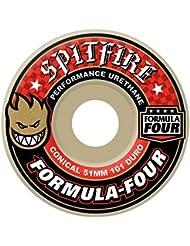 de Spitfire Spitfire - Ruedas de Skateboard Formula Four Cónicas 101a - 54mm