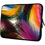 """Snoogg Plumas Coloridas 15"""" 15.5"""" 15.6"""" Inch Laptop Notebook Slipcase Sleeve Soft Case Carrying Case For MacBook Pro Acer Asus Dell Hp Sony Toshiba"""