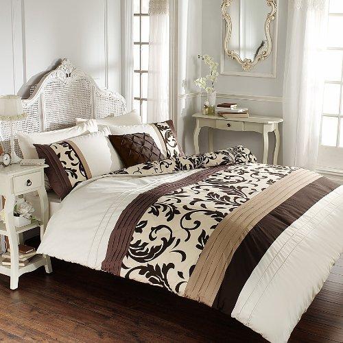 Gaveno Cavalia Signature Collection Scroll Set mit Bettbezug und Kissenbezug, Polyester-, Schokolade, Double -