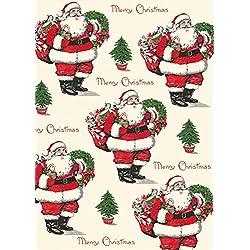Cavallini feliz Navidad Papá Noel Papel de regalo