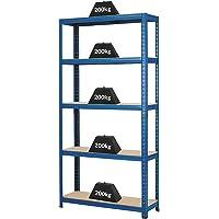 Certeo Rayonnage d'atelier | HxLxP - 178 x 90 x 30 cm | Charge maximale de 200 kg par étagère | Profondeur 30 cm…