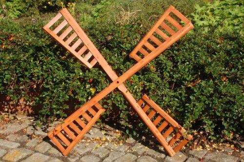 Flügel aus Holz für Windmühle, imprägniert, 100 cm Spannweite - Spannweite