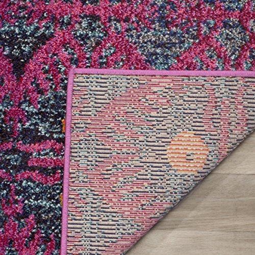 Safavieh Greta gewebter Teppich, MNC213D, Rosa / Mehrfarbig, 121 X 170  cm