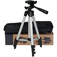 Teconica 3110 Portable and Foldable Metal Tripod with Mobile Clip Holder Bracket, Stand with 3-Dimensional Head for…