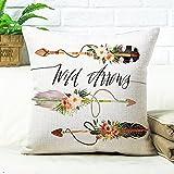 Confezione da 2fodere per cuscini cuscino lettera Sleeper copertura del cuscino grande cotone/lino copertura del cuscino, cotone/lino, N, 53X53cm