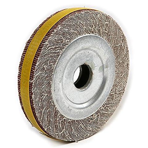 Atoplee 130~ 150mm Grain 60# Diamètre abrasif Flap ponçage Roue pour meulage polissage [60#, 1pièce]