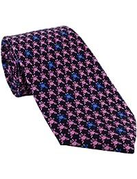 Navy Frogs Silk Tie