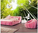 Yosot Dekoration 3D Wandbild Tapete Für Wohnzimmer Bambus Kulisse Landschaft Taube Foto 3D Tapete-450cmx300cm