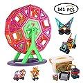 Magnetische Bausteine, 141-Stück Multi Farben Magnetische Bausteine ??Set Pädagogisches Spielzeug für Kinder Geschenk von Ccfoud