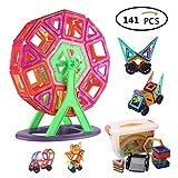 Magnetische Bausteine, 141-Stück Multi Farben Magnetische Bausteine   Set Pädagogisches Spielzeug für Kinder Geschenk