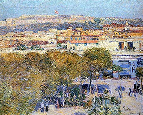 The Museum Outlet - Central Place and Fort Cabanas, Havana by Hassam - A3 Poster