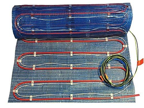 Fußbodenheizung 2systems als komb. Warmwasser- und Elektroheizung von 2,5-10m², OHNE Regler, mit Heizleistung ca. 60-120 Watt/m² - leicht zu verlegen!, Fläche:7.5 qm