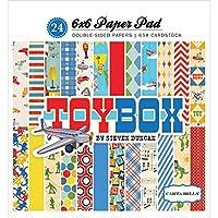 Carta Bella Paper 6x6 Paper Pad, Toy Box, 12 Designs/2 Each, 6-x-6-Inch