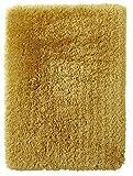 Think Rugs Langflor-Teppich, Polar, handgetuftet, Dicke 8,5 cm, Shaggy Teppich, groß, weich, Größen, gelb, 120 x 170 cm