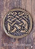 Gürtelschnalle - Keltische Hunde Silber oder Bronze Mittelalter - LARP - Wikinger (Bronze)