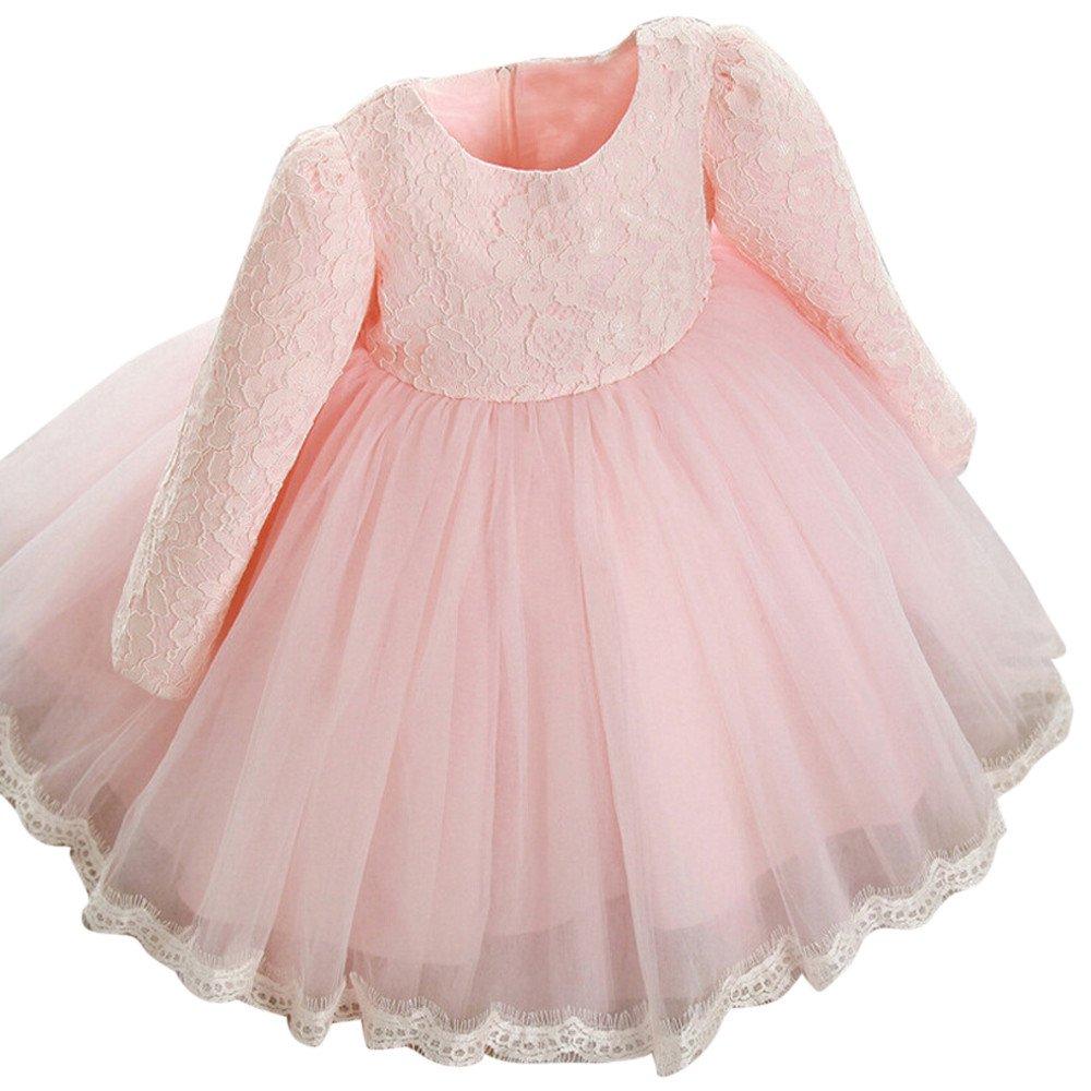 Kleider Kinderbekleidung Honestyi Kinder Baby Mädchen Lange Hülsen Prinzessin Spitze Blumen Festzug Hochzeitsfest…