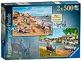 Ravensburger Malerische Landschaften, Nr. 2: Norfolk - Cromer & Horning, 2 Puzzles mit 500 Teilen