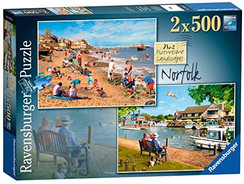 Preisvergleich Produktbild Ravensburger Malerische Landschaften, Nr. 2: Norfolk - Cromer & Horning, 2 Puzzles mit 500 Teilen